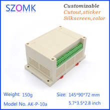 10 psc a lot  abc material high switch sticker plastic din rail housing pcb  junction box for electronics 145*90*72mm