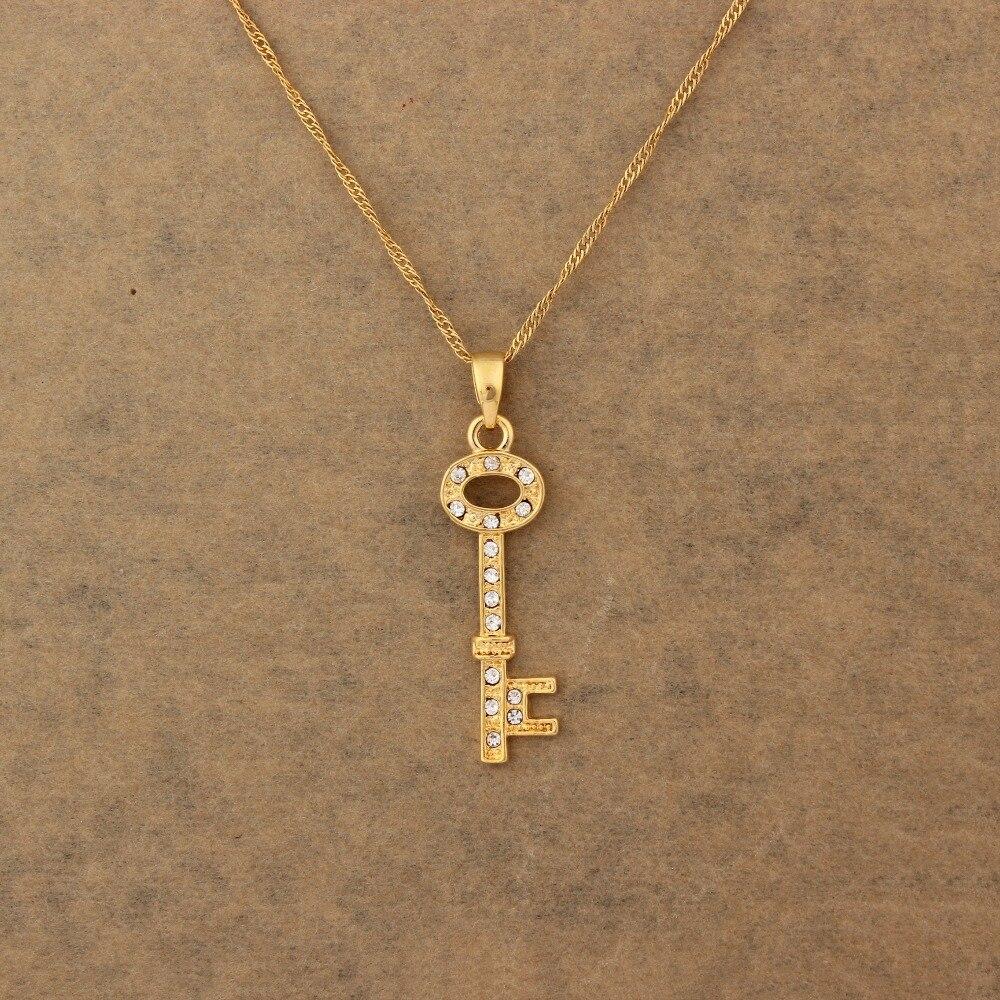 Islam key Pendant Gold Color Charm Pendants & Necklaces Muslim ...