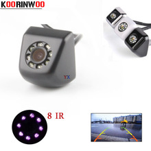 Koorinwoo Univeral Parking CCD HD Car Rear view Camera BackUp Night vision 8 Lights Front Reverse Cam For Audi/Ford/Toyota(China)