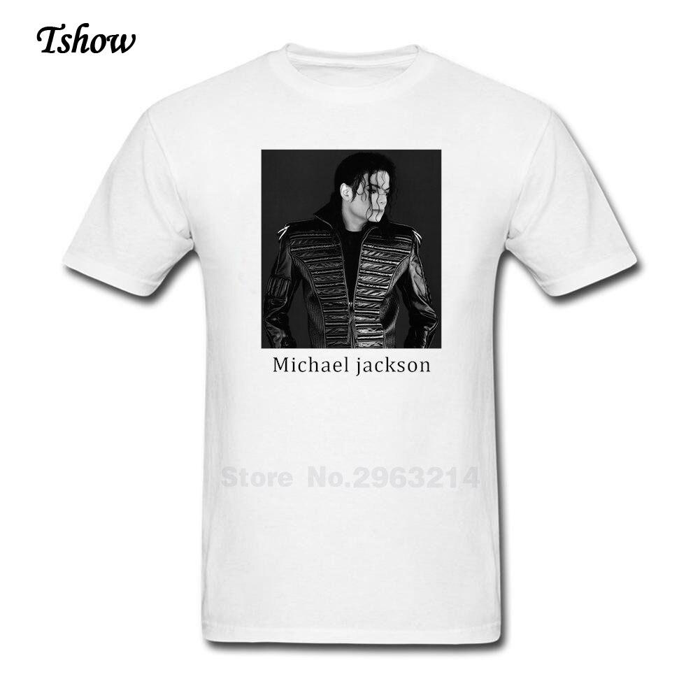 Black t shirt michaels - Michael Jackson T Shirt Man Casual Summer Print Cotton Male Costume Round Neck Short Sleeve Cool