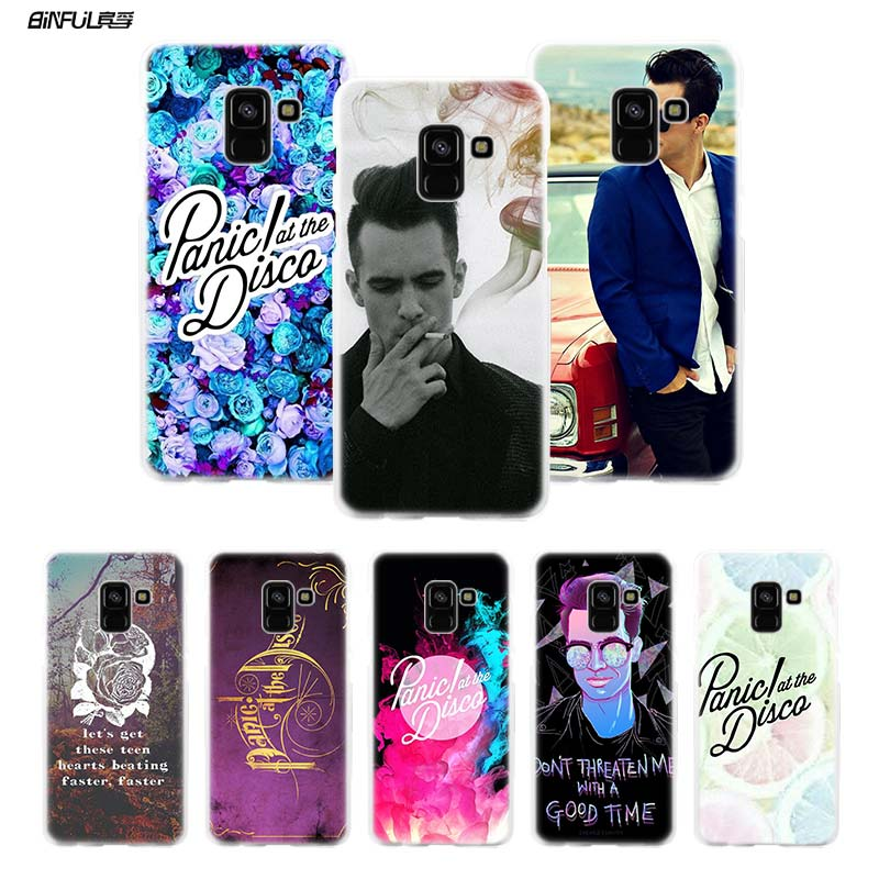 BiNFUL Panic At The Disco Hard Clear Case Cover Shell for Samsung Galaxy A3 A5 A7 2016 2017 A8 2018