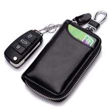 Key Holder key smart Leather Keychain Pouch Car Key Holder Automobile Remote Controller Packet Housekeeper Induction Door Card