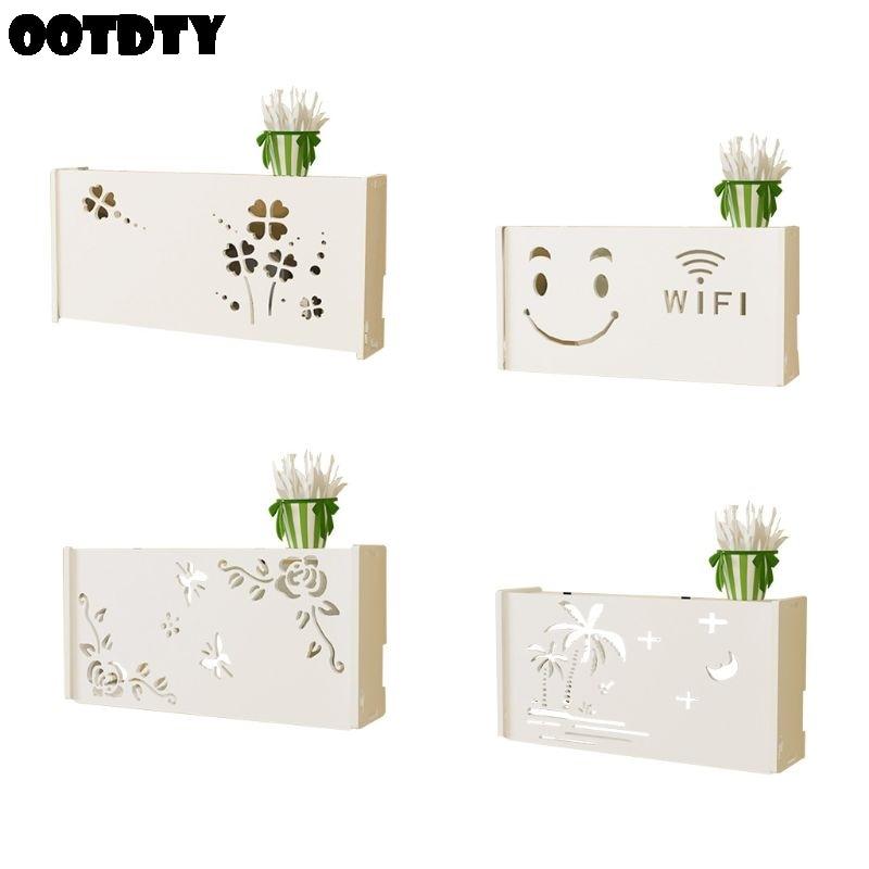 Sans fil Wifi routeur boîte de rangement PVC panneau cadre support mural câble stockage grande taille décoration de la maison