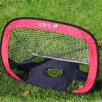 112 80 80cm Portable Folding Children Football Goal Door Set Football Gate Outdoor Sports Toys Kids