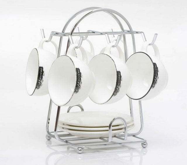 New Hot Sale Kitchen Metal 6 Cup Mug Stand Tea Coffee Cup Holder