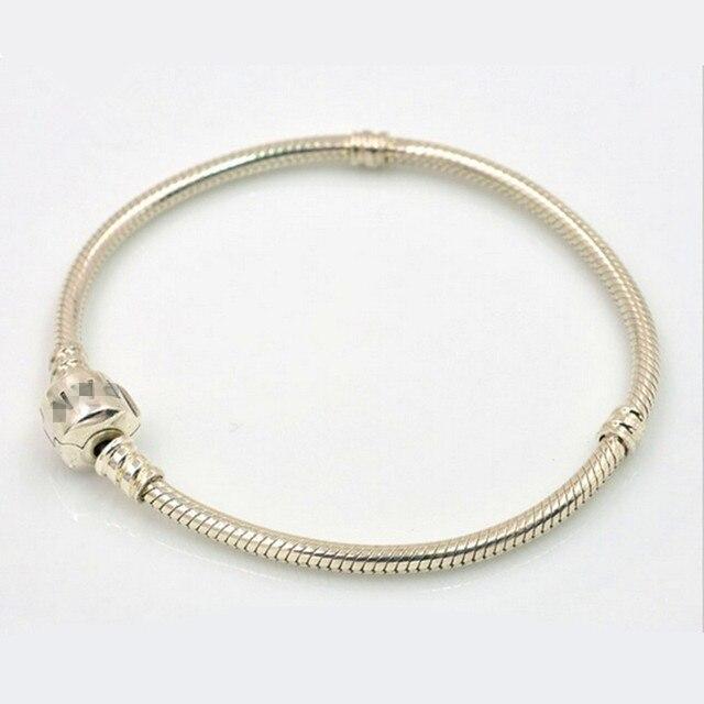 Authentic 925 Sterling Silver original Bracelets Snake Chain Charm Bracelets Compatible European DIY Charm Beads 2016.FL101