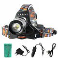 6500lm xml-l2 Rechargeable Headlight Zoom led Headlamp 5 mode Lantern lighting lamp light 18650 battery car usb  charger