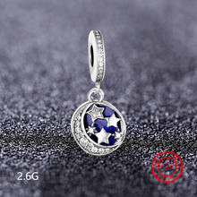 100% 925 Sterling Silver Ocean Star Pendant Bead Charm Suitable for Pandora Charm Bracelet  Jewelry Making