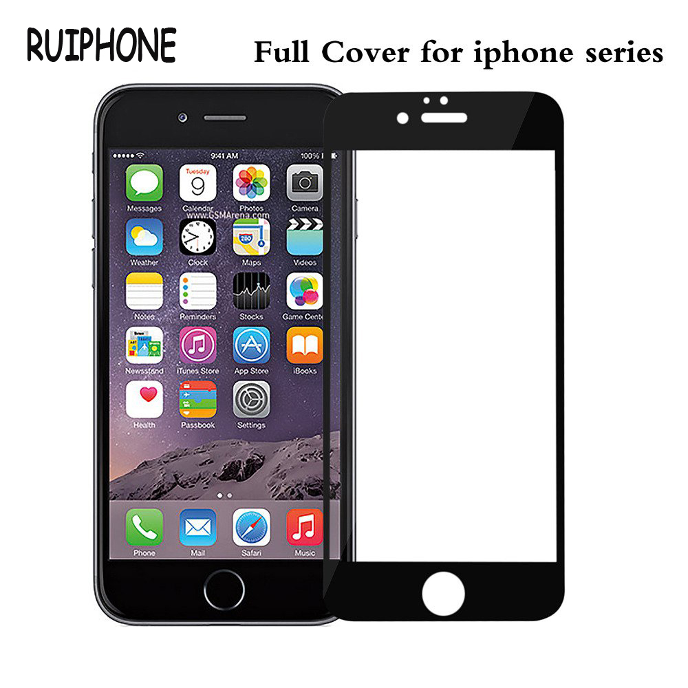 Full Screen <font><b>Protection</b></font> Tempered Glass For iPhone 6 6S Screen Protector <font><b>Film</b></font> Glass On The Apple iPhone 5 5S 5C SE 6 6s 7 Plus 8 X