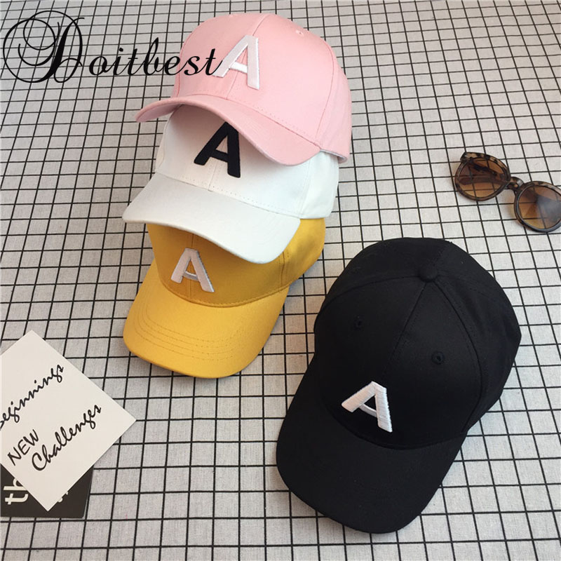 2018 Korean embroidery Children Hip Hop Baseball Cap Summer Solid kids Sun Hat Boys Girls snapback Caps age for 2-9 years old