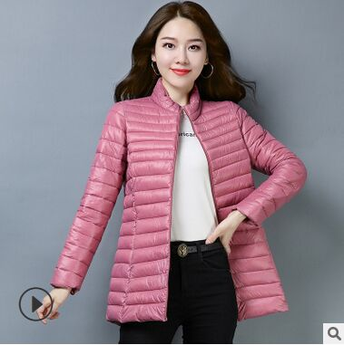 2019 winter women's thick warm   parkas   female autumn coat Outwear Basic Jacket 4 olors
