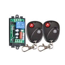 Receiver&2Transmitter 220V 1CH RF Wireless Remote Switch Light Lamp LED SMD ON OFF Switch Wireless 10A Momenrary Toggle Latched