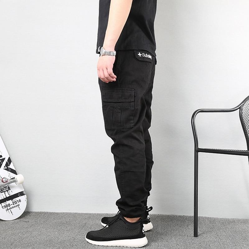 Japanese Vintage Fashion Men Jeans Loose Fit Big Pockets Casual Cargo Pants Harem Trousers Streetwear Hip Hop Joggers Pants Men 3