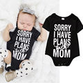 Newborn Kids Clothes Baby Infant Boy Girl Clothes Letter Cotton Cotton Bodysuit Tops Jumpsuit Outfit
