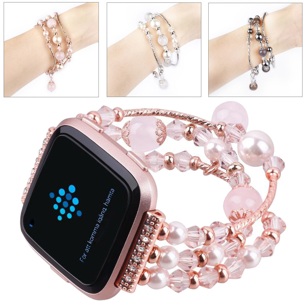 Petite taille Wanch band Pour Fitbit Versa Mode Sport Perlé Bracelet Bracelet Band Pour Fitbit Versa May.10