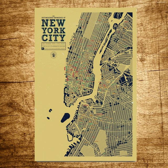 New York City Map Wholesale Vintage Canvas Painting Modern Wall Art ...