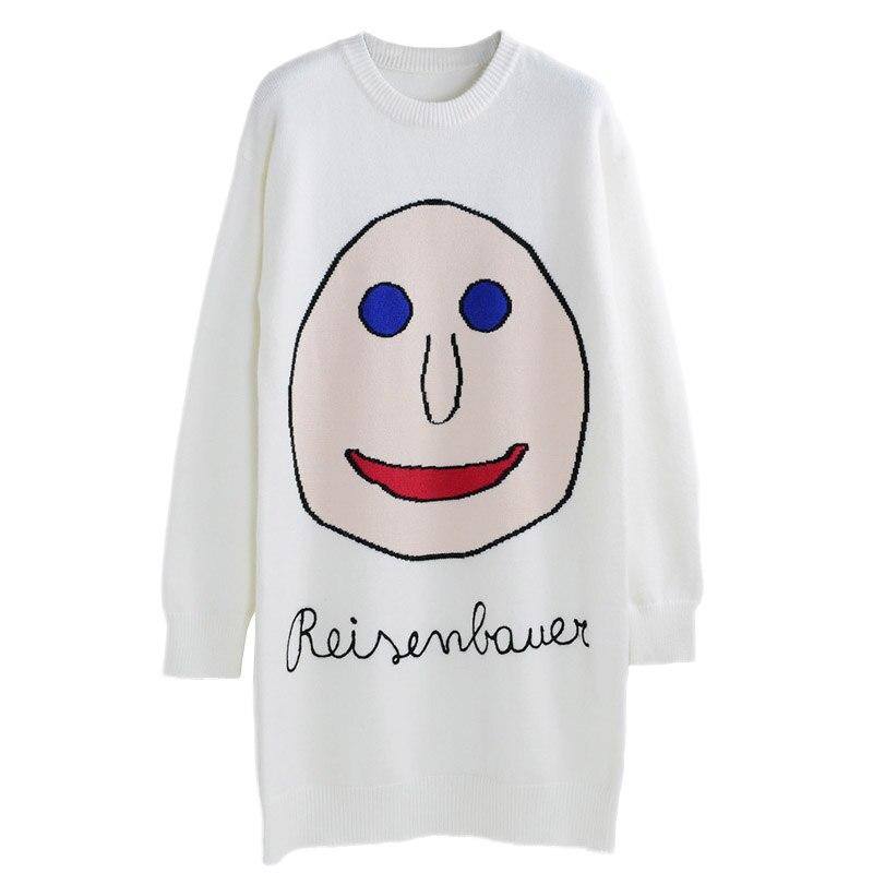 Новинка весны для женщин свитер пуловеры для повседневное теплые модные длинные дизайн женский вязаный Пуловеры с кошками