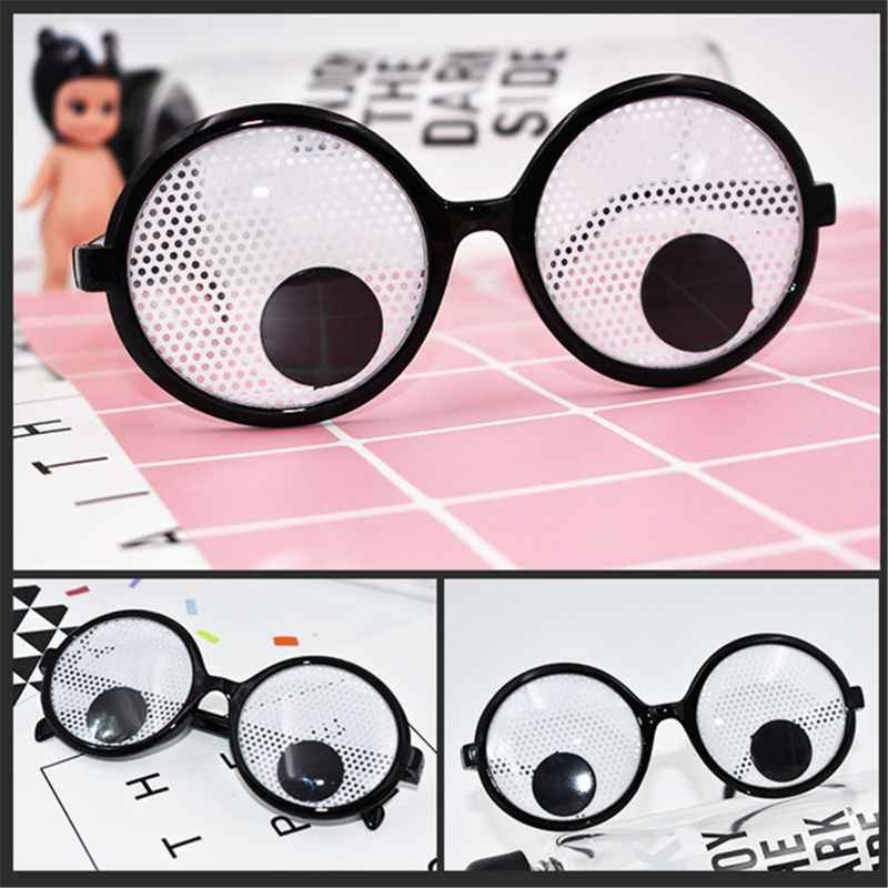 Googly Eyes Glasses – Plastic Round Party Favors, Novelty Shades, Party Toys, Funny Costume Glasses Accessories for Kids & Adult