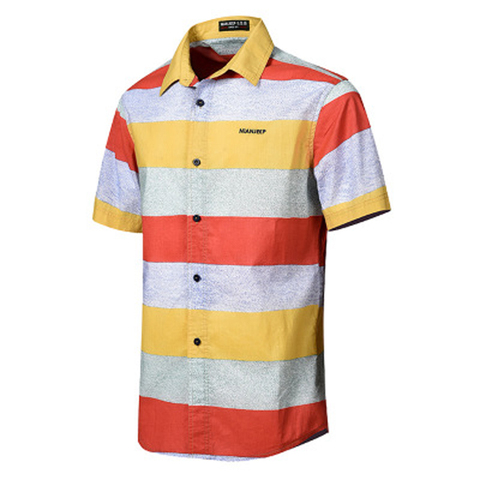 NIANJEEP 2018 Cotton Striped Summer Shirts Men Short Sleeve Loose Casual Breathable men Shirts Plus Size 4XL Camisa Masculina Lahore