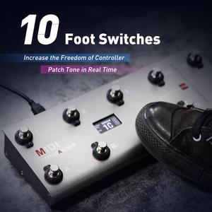 Image 2 - MIDI Commander Guitar Portable USB MIDI Foot Controller With 10 Foot Switches 2 Expression Pedal Jacks 8 Host Presets For Live