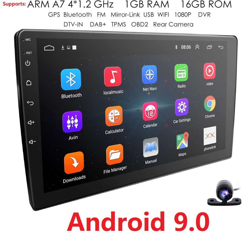"Double 2Din 10.1/""Android 8.1 Car Stereo GPS Navigation Radio W Bluetooth WiFi 4G"
