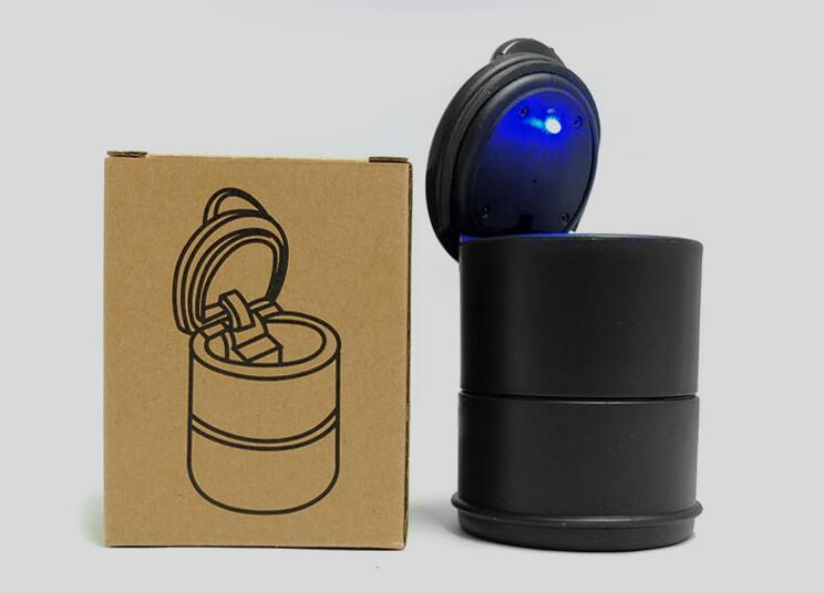 2016 di vendita calda LED portatile Камион dellautomobile ufficio Авто sigaretta posacenere подстаканник Nero стайлинга автомобилей