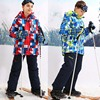 Children Outerwear Warm Coat Sporty Ski Suit Kids Clothes Waterproof Windproof Boys Jackets For 5 16T