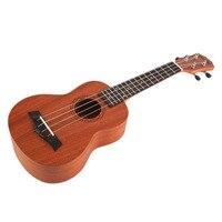 Soprano Acoustic Electric Ukulele 21 Inch Guitar 4 Strings Ukelele Guitarra Handcraft Wood White Guitarist Mahogany