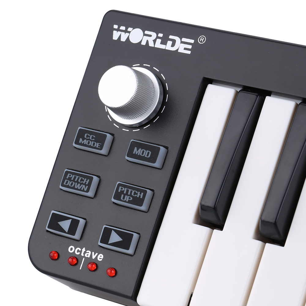 US $35 59 51% OFF|Easy key 25 Portable Keyboard Mini 25 Key USB MIDI  Controller Electronic Organ Accessories-in Electronic Organ from Sports &
