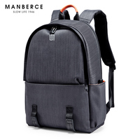 MANBERCE USB Charging Men Backpack Leisure Travel Backpack 15.6 inch School Bags Teenager Large Capacity Male Mochila M81
