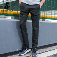 Pioneer Obóz nowy wodoodporna dorywczo spodnie mężczyźni marka-odzież proste stałe spodnie stretch slim fit spodnie męskie jakości AXX701153