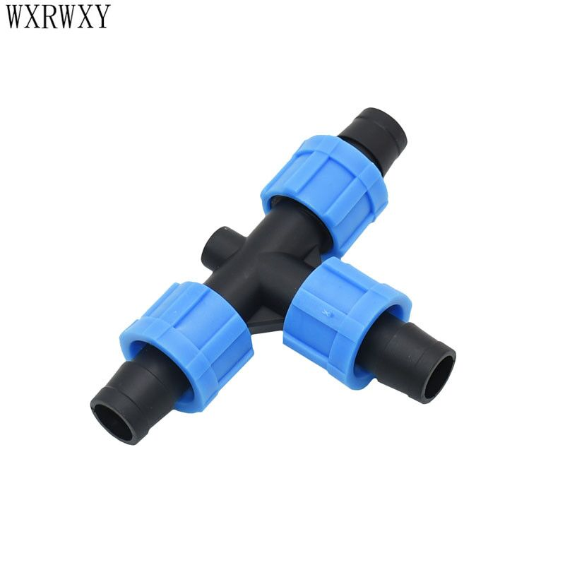 16mm drip tape tee connector screw Greenhouse drip irrigation water splitter Watering & irrigation 5/8 fittings 15 pcs image