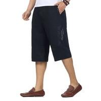 Chinese Man Causale Strand Shorts Geel Zwart Legergroen knielange Broek Mannen Hoge Elastische Taille Baggy Cargo Shorts Zomer