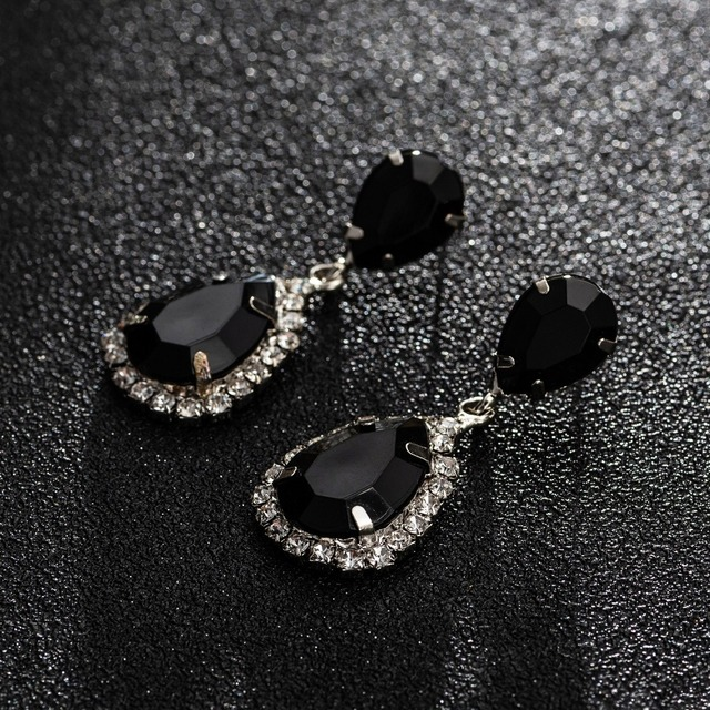 YFJEWE Bride Earrings Cosmetic Geo ZhaoHao Popular Rhinestone Crystal Drop Earring For Wedding Dress Fashion Baldpates  #E043 5