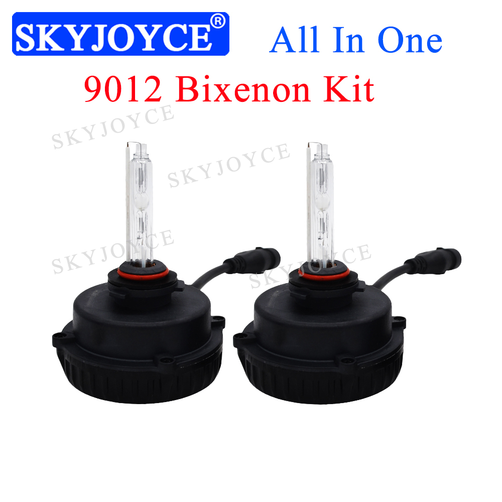 Plug and Play Car Headlight All In One 9012 Xenon Kit For 2016 LEVIN RAV4 35W 55W 6000K 9012 HIR2 Bixenon projector lens Bulb-in Car Headlight Bulbs(LED) from Automobiles & Motorcycles    1