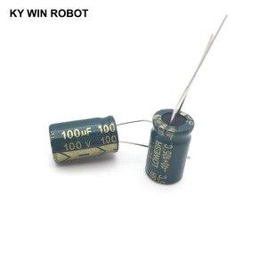 Image 5 - 10 pièces En Aluminium électrolytique condensateur 100 uF 100 V 10*17mm frekuensi tinggi Électrolytique Radial kapasitor