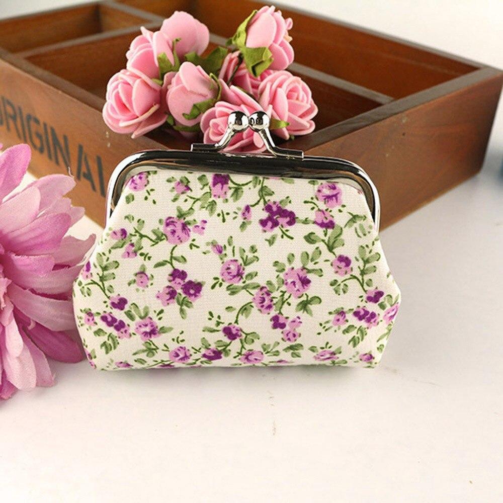 Wallet Hasp Purse Clutch-Bag Pocket-Handbag Vintage Fashiont Hot-Sale Women Flower Retro