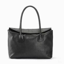 Women Leather Handbag Fashion Design Black Lady Bag Genuine Leather Womens Shoulder Bag Satchel Cross Body Casual Tote 2016 New