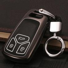 for Audi A4 B9 Car Key Cover Case Aluminum Alloy 2018 A5 key Q7 protector Bag TT/ S4/ S5/ TTS