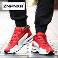 2016 Novos Homens Sapatos Casuais Primavera PU Sapatos De Couro Homens Respirável Elástico Preto Sapatos Para Homens ZNPNXN