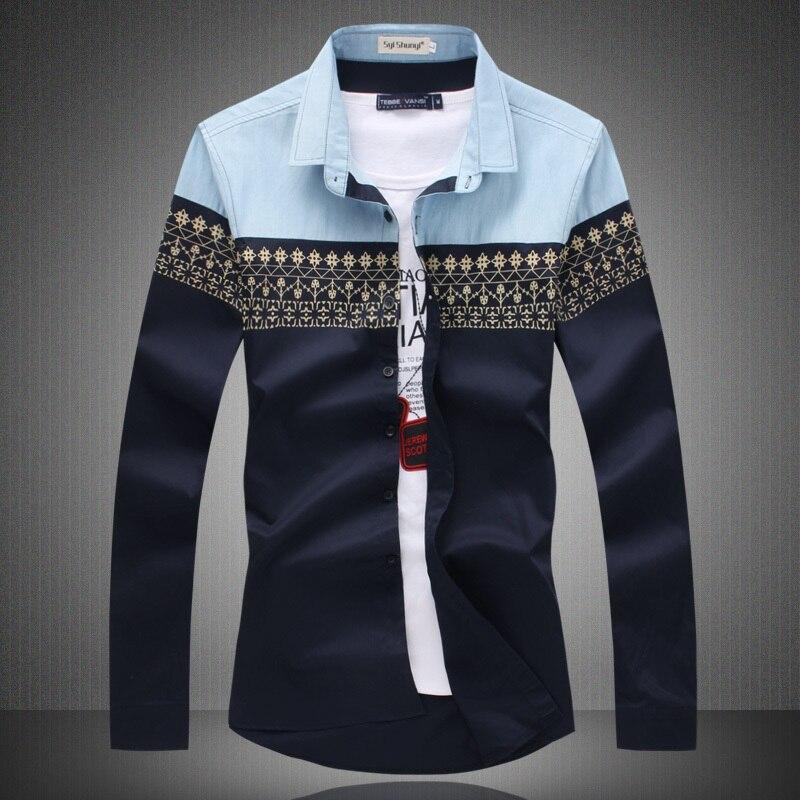 Online Shop Plus Size New 2015 How Sale Patchwork Slim Fit Fashion ...