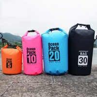 Ocean Pack Dry bag Outdoor Waterproof bag Swimming River Trekking Rafting Beach bag Adjustable Strap 500D PVC