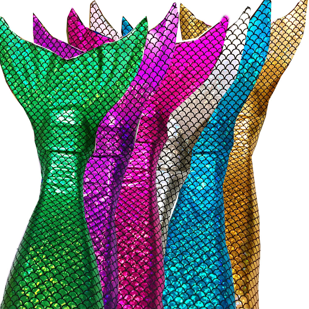 Mermaid Tail + Bikini top + monofin Ragazze Bambini Balneabile Shinning nuoto swimware vestito cosplay regalo