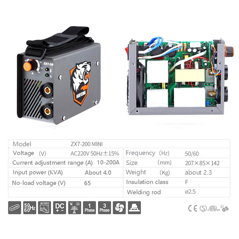 ZX7 200 10 200A 4000W Mini MMA Electric Welder 220V 200A Inverter Arc IGBT Welding Machine tool-in Arc Welders from Tools    2