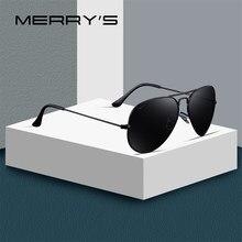 MERRYS تصميم الرجال/النساء الكلاسيكية الطيار الاستقطاب النظارات الشمسية 58 مللي متر UV400 حماية S8025
