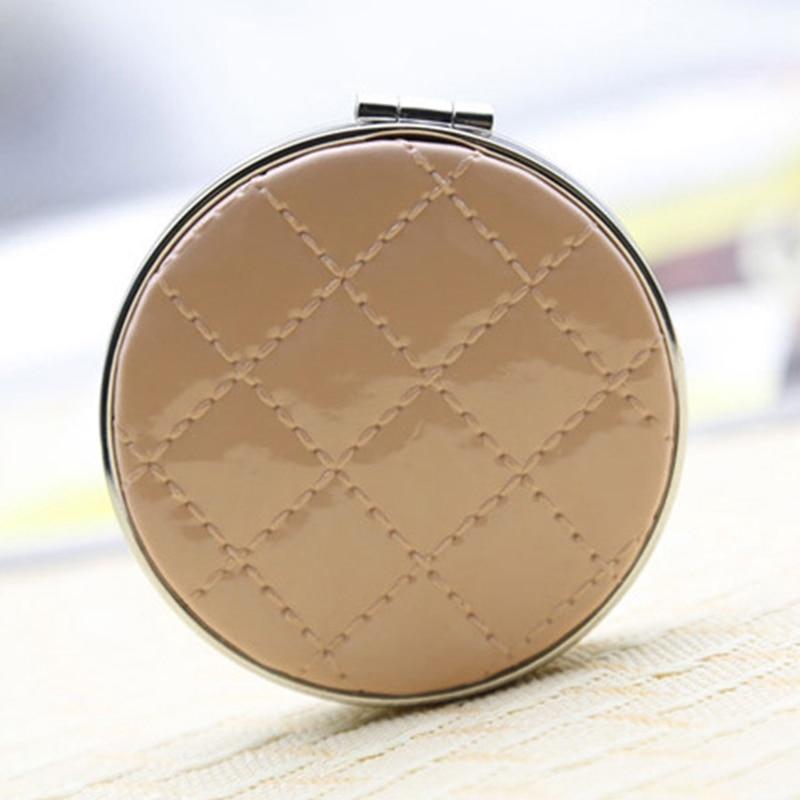 Haut Pflege Werkzeuge Mini Tragbare Doppel Seiten Make-up Spiegel Tasche Spiegel Compact Gefaltete Tragbare Kleine Runde Hand Spiegel Make-up Eitelkeit Metall