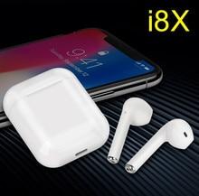 TWS I8X Estéreo Sem Fio Bluetooth Fones de Ouvido Fones de ouvido Para o iphone