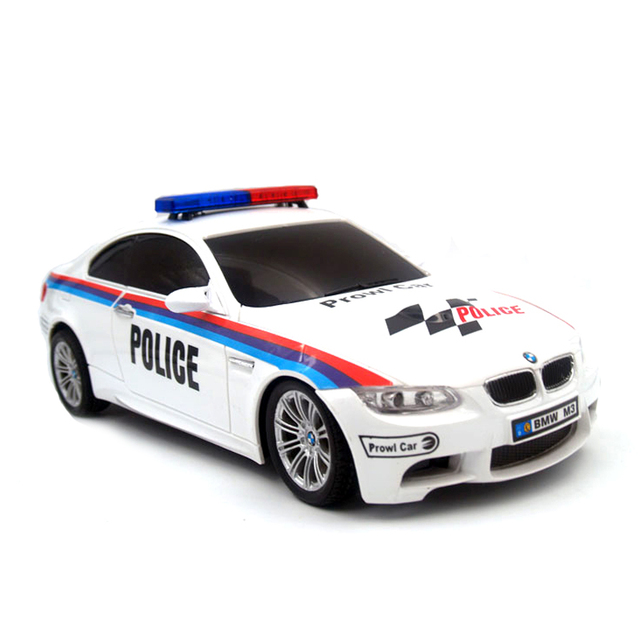 licensed 118 rc car model for bmw m3 police car remote control radio control