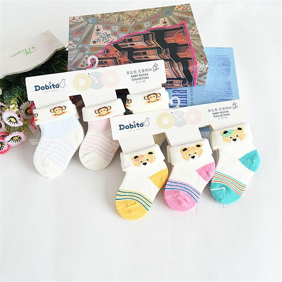 2017 милый мультфильм животных Медведь Pattern Kid Носки для девочек хлопковые нескользящие носки для маленьких мальчиков Обувь для девочек от 0 д...