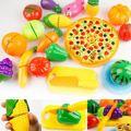 24Pcs/Set Kitchen Pretend Play Toys Vegetable Fruits Children Early Education Set Favor Supplies Kids Classic Toys Brinquedos